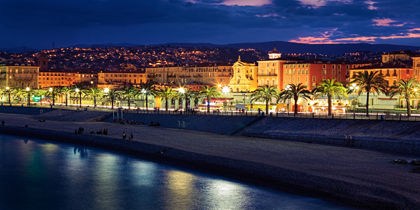 Promenade des Anglais'n ranta, Nizza, Ranska