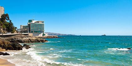 Praia Caleta Abarca, Vina del Mar, Chile