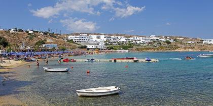Пляж Платис-Гиалос, Остров Миконос, Греция