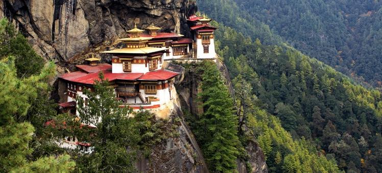 不丹与中国边境风景图