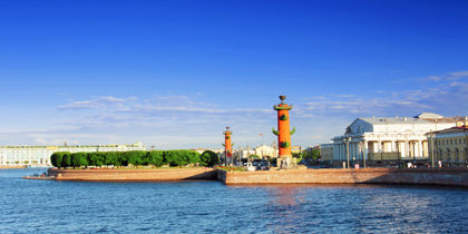 Vasilyevsky-øyen, St. Petersburg, Russland
